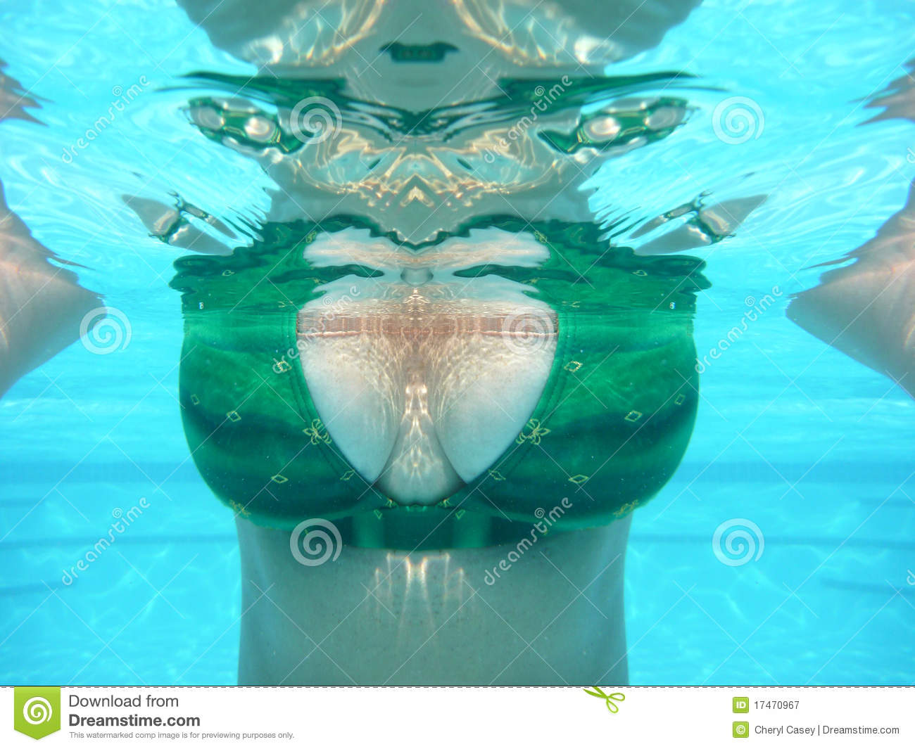 View Of Woman Underwater Royalty Free Stock Photography