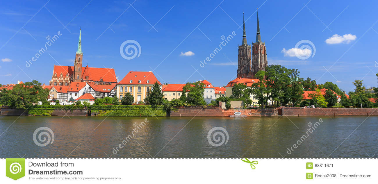 A view of the Wroclaw.Poland