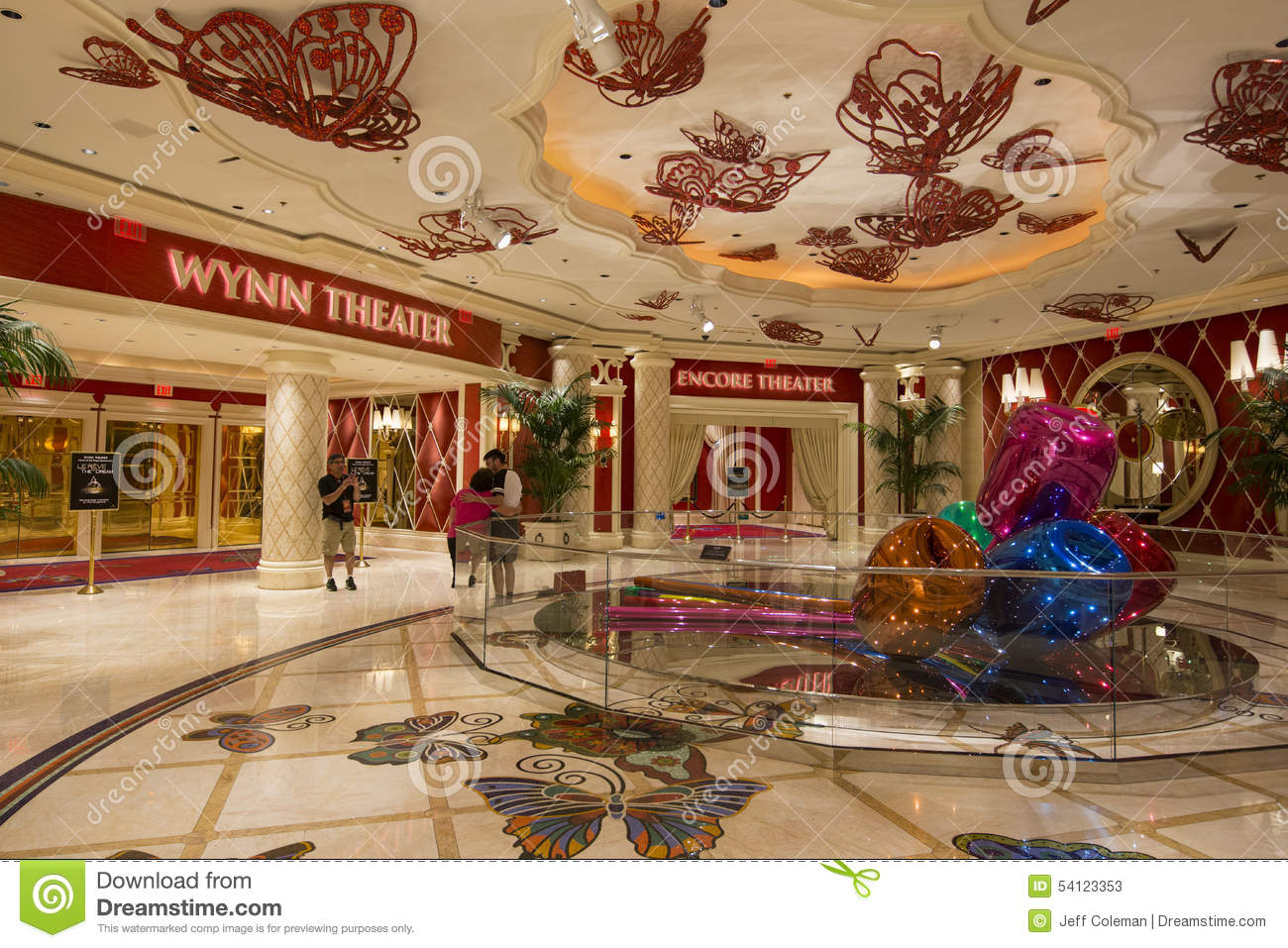 A View Of The Wynn And Encore Theaters Inside Of The Wynn Hotel In