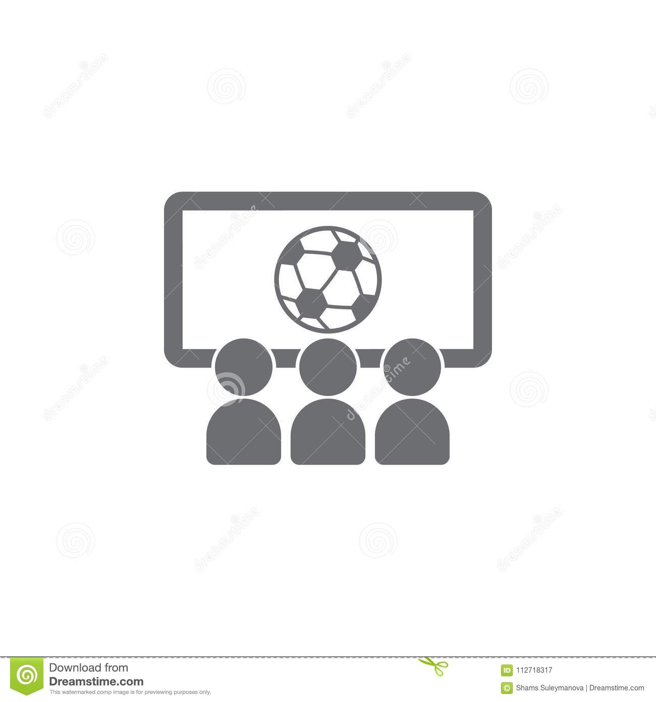viewing a football match icon simple element illustration viewing a football match symbol design template can be used for web a stock illustration illustration of match goal 112718317 dreamstime com