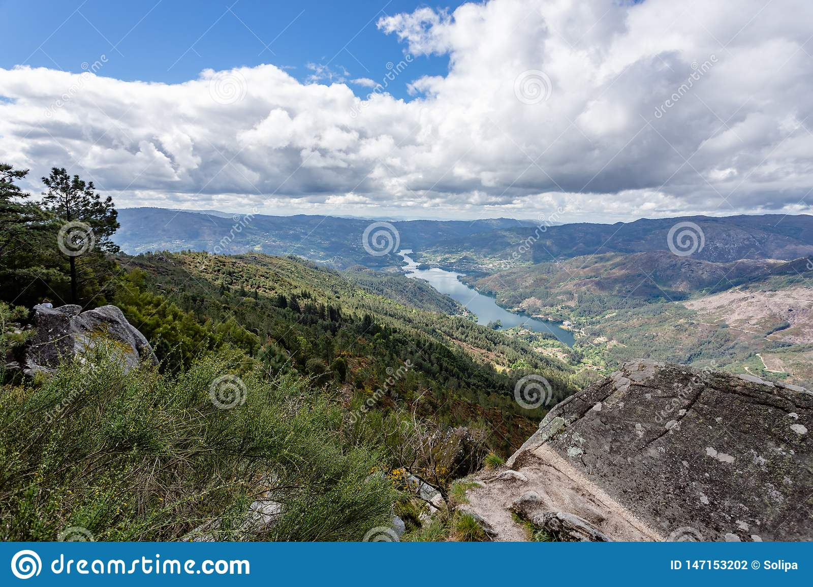 The viewpoint pedra bela in the Peneda Geres National Park, north of Portugal