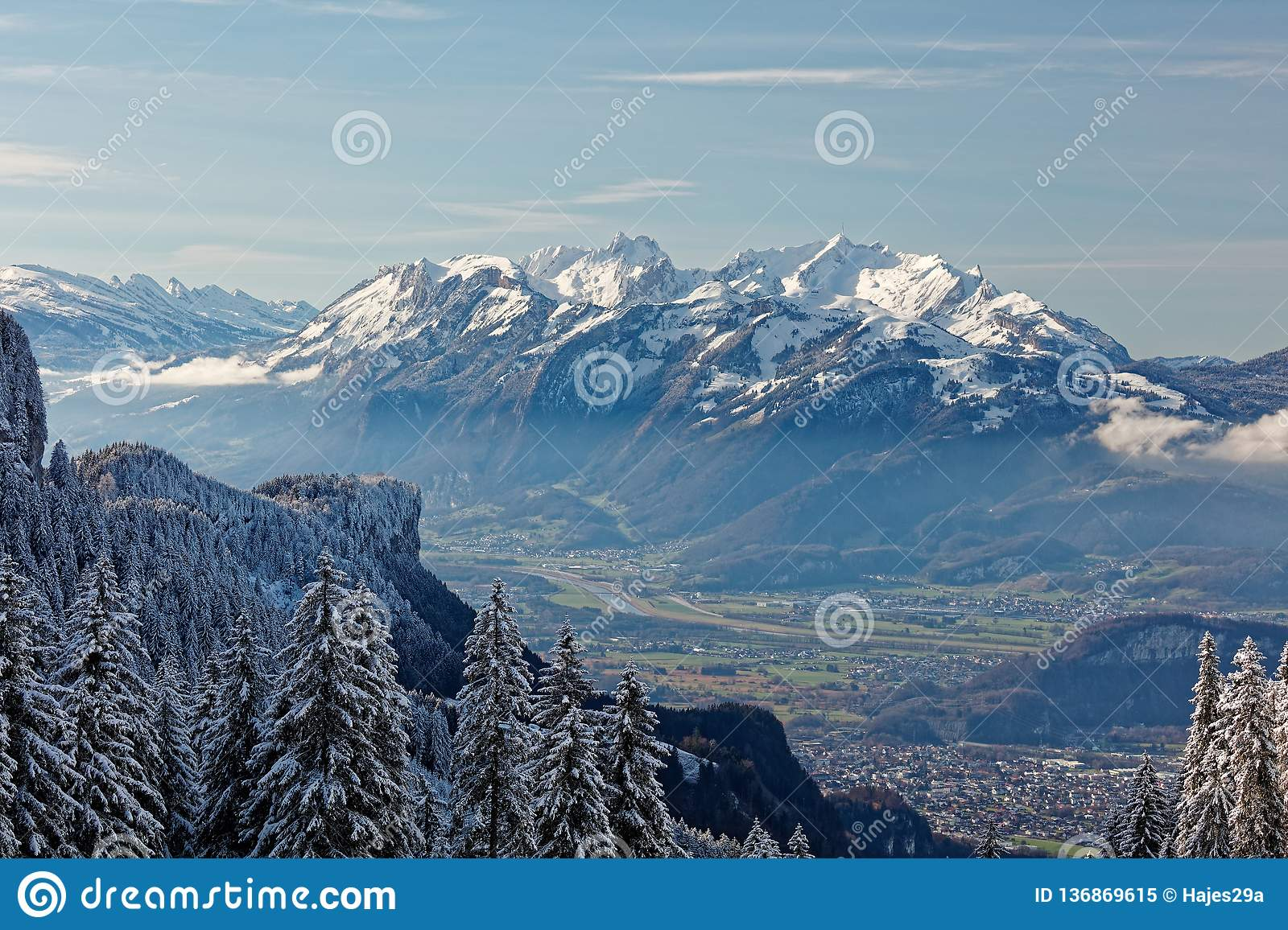 Views Of Appenzell Alps In Switzerland Stock Image Image