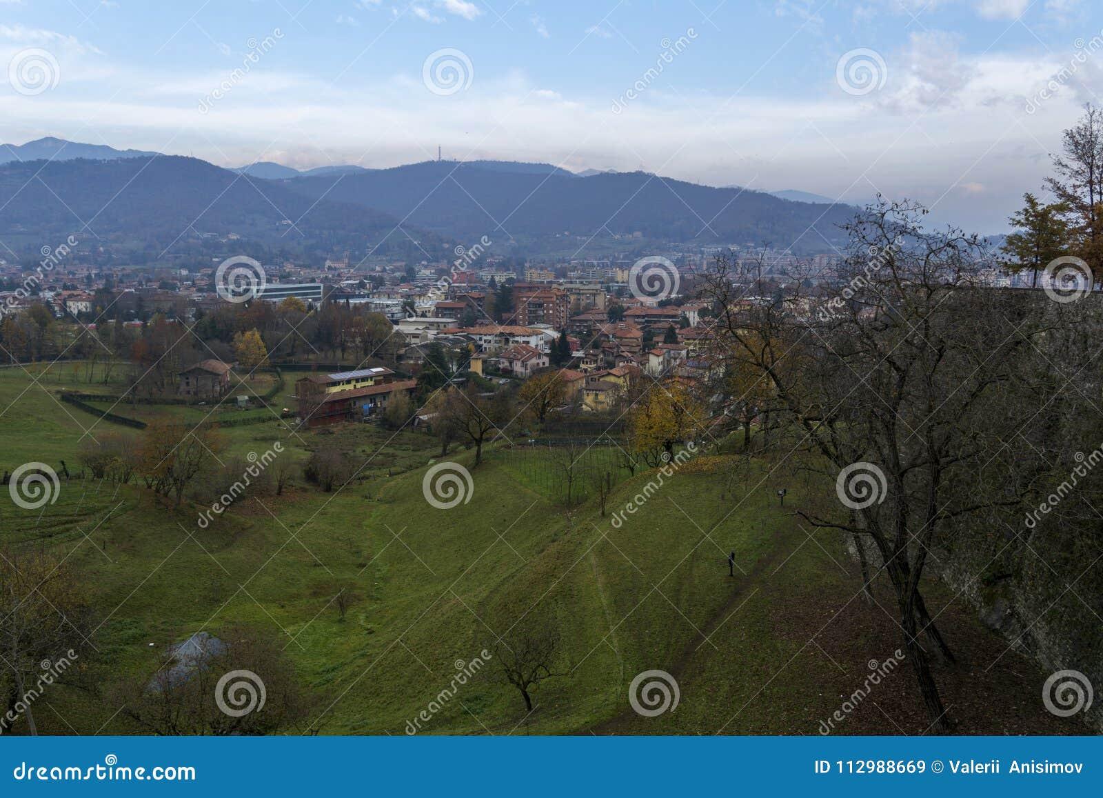 The views of Bergamo. Italy