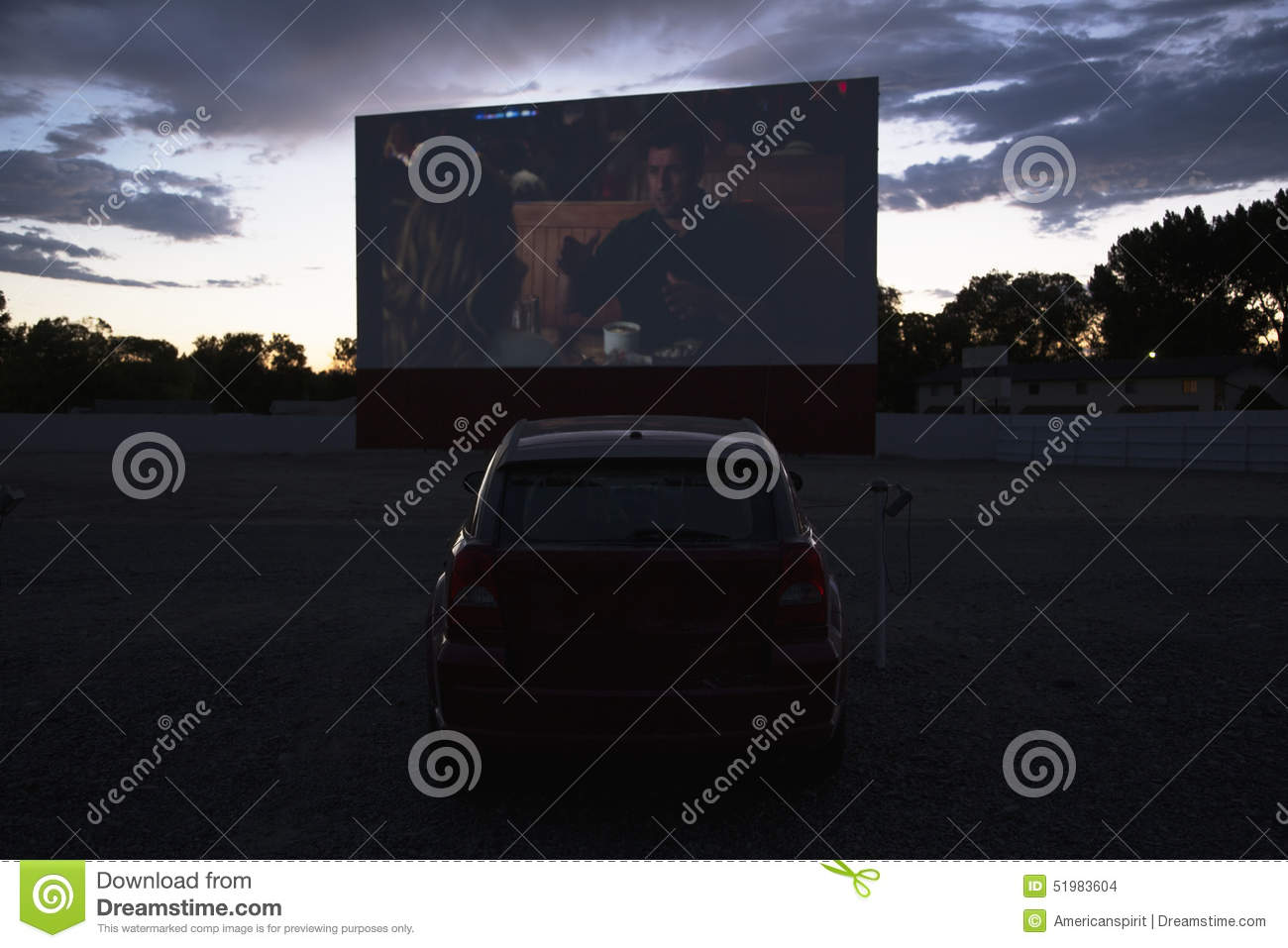 views in car watch movie star drive in movie theater