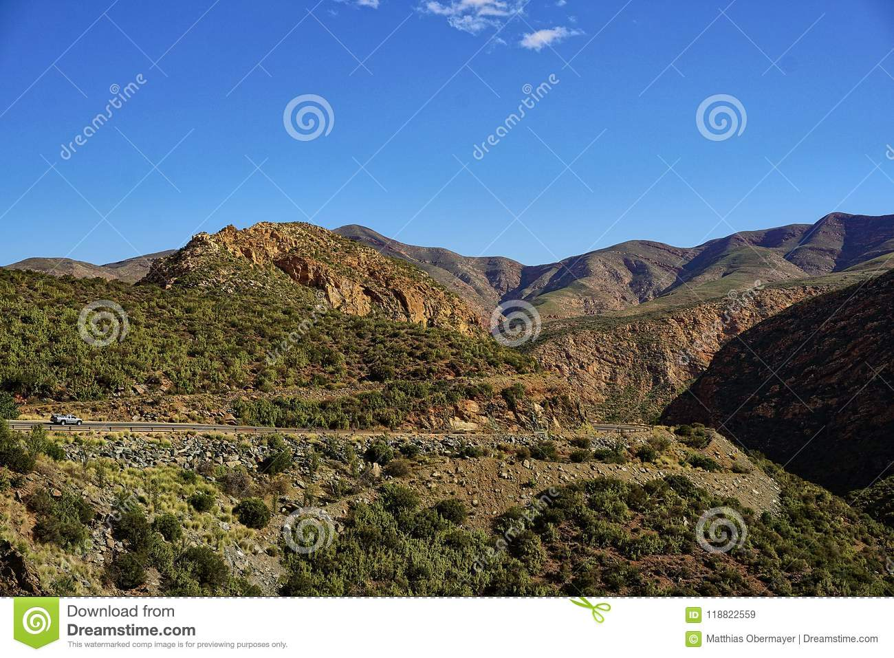Views On Mountains And Landscapes On The Garden Route In South ...