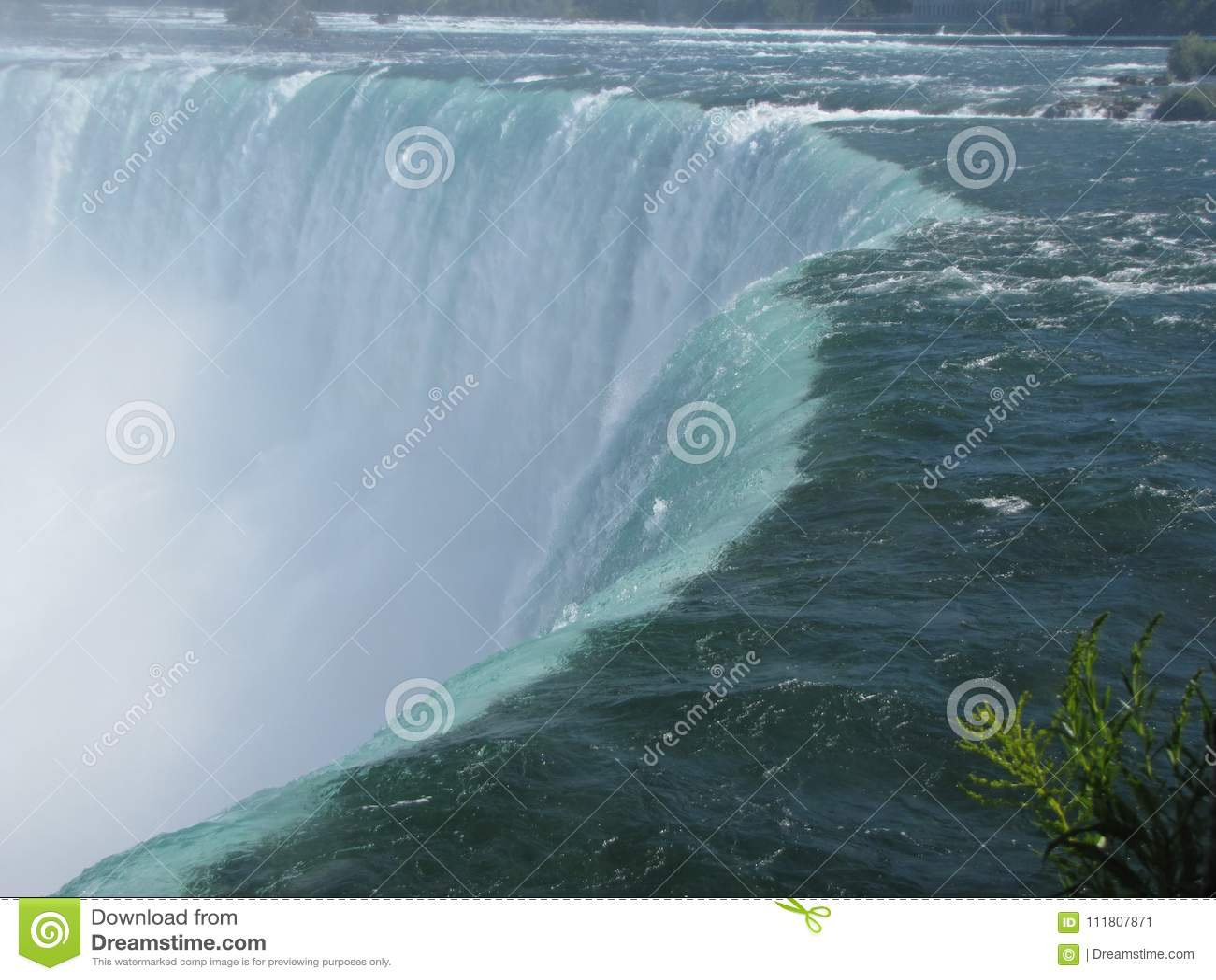 Views Of The Niagara River And The Famous Niagara Falls In