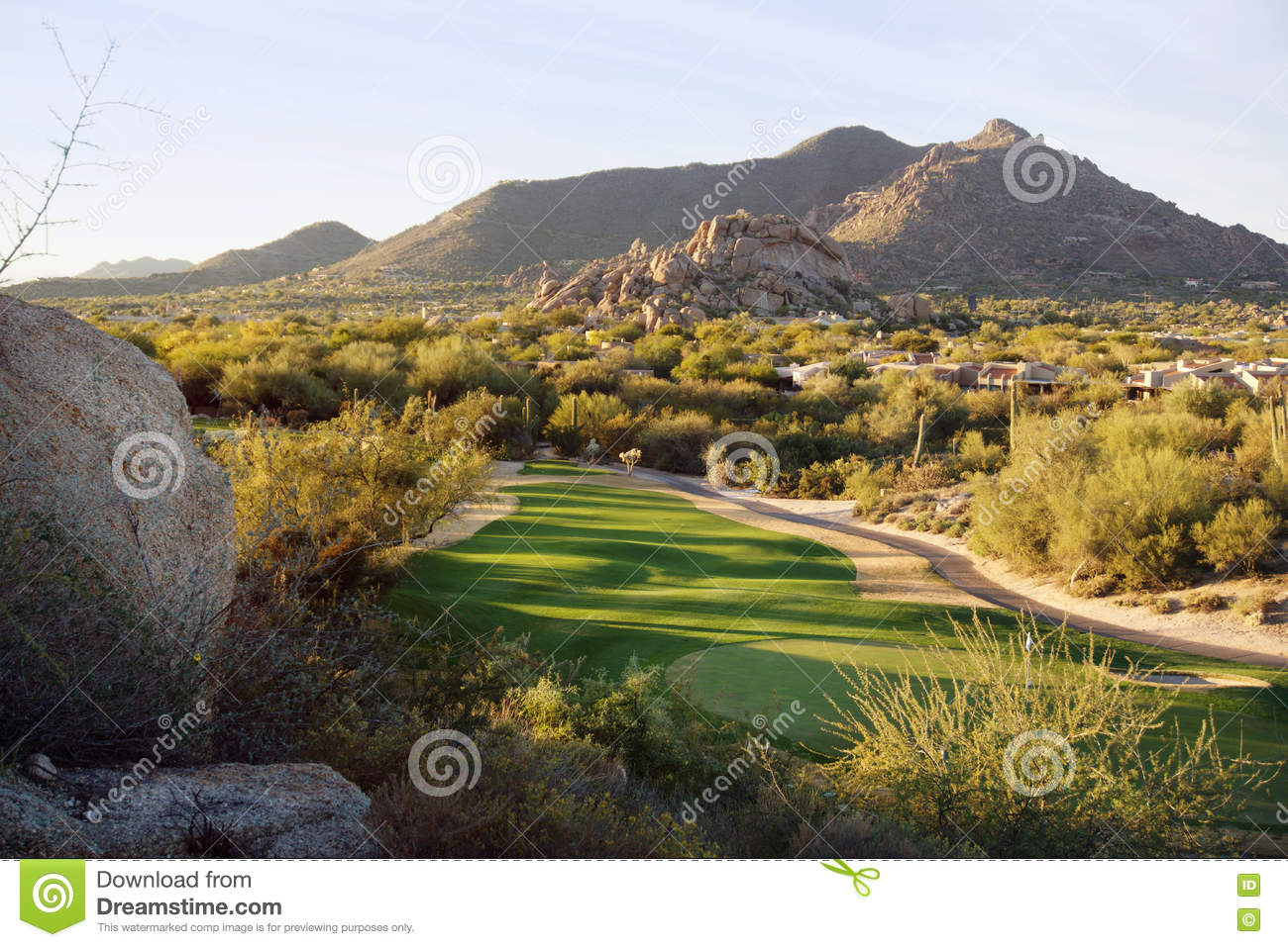 Download Views Of North Scottsdale Valley Near Cavecreek With Views Of Golf Course And Black Mountain Stock Image - Image of hike, luxury: 72227135