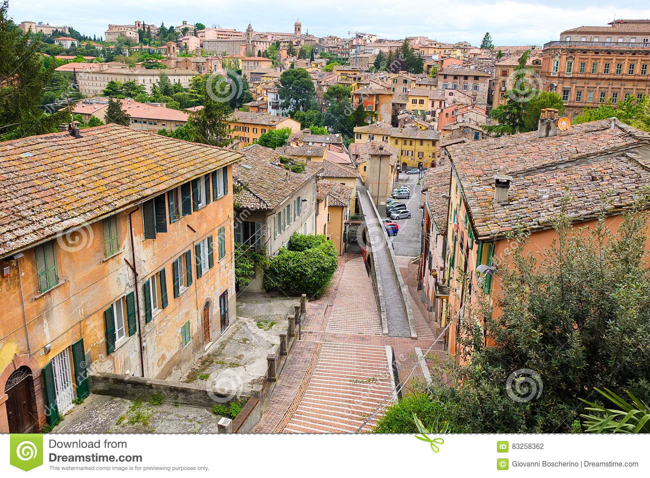 Views The Streets The Beautiful City Perugia Editorial