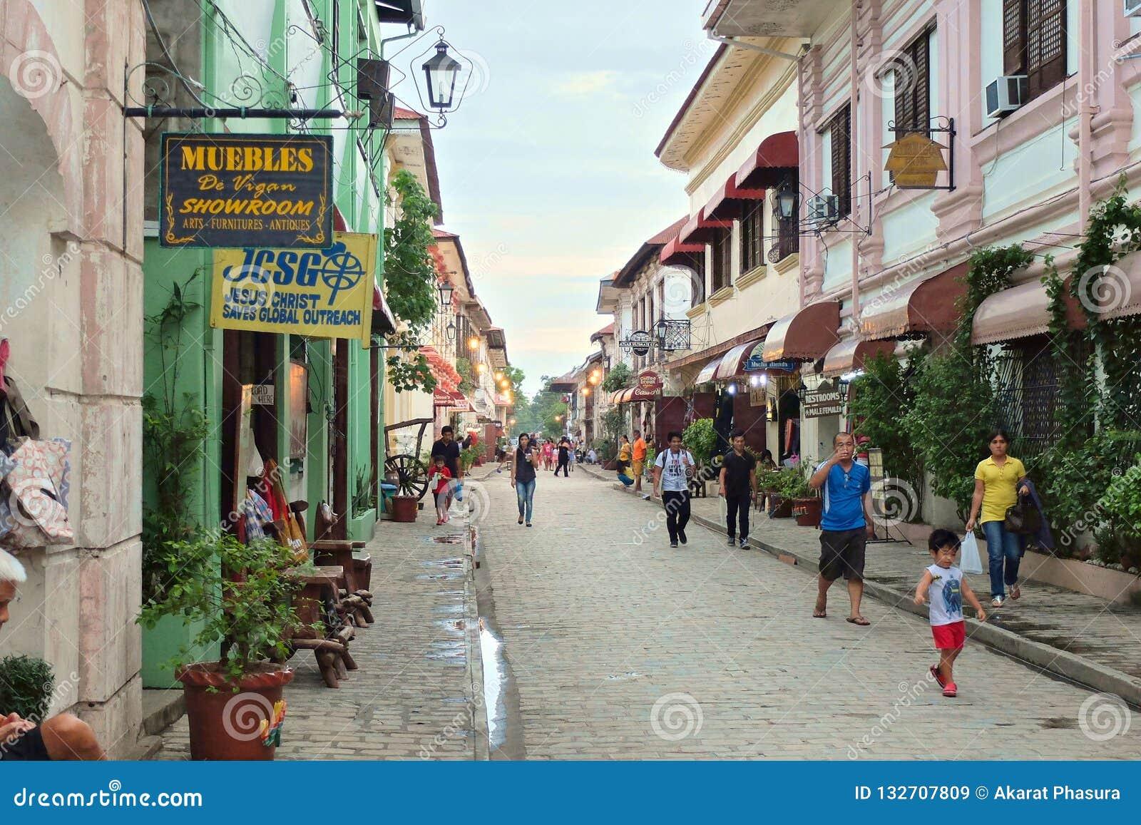 VIGAN, PHILIPPINEN - 25. JULI 2015: Historische Stadt von Vigan Vigan ist eine UNESCO-Welterbestätte