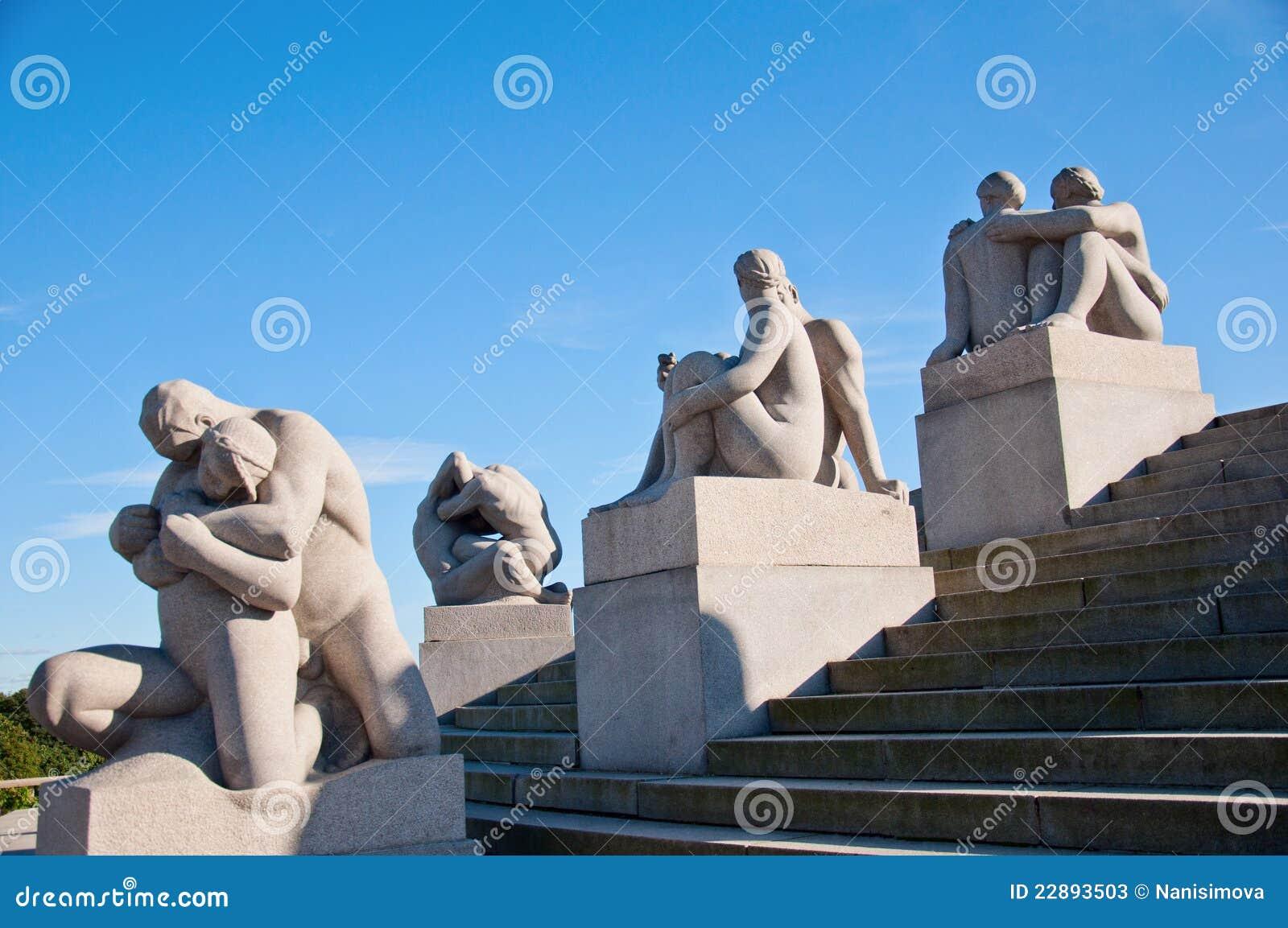 Vigeland скульптуры парка Норвегии Осло