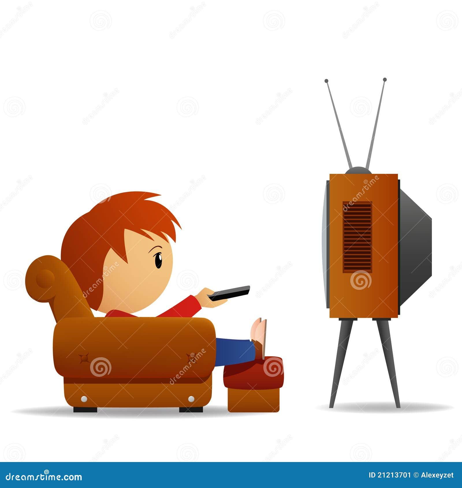 Vigilanza TV dell uomo del fumetto
