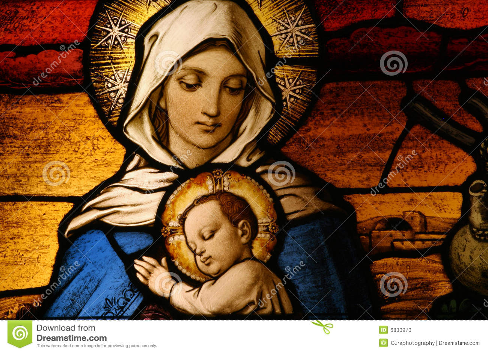 Vigin Maria con el bebé Jesús
