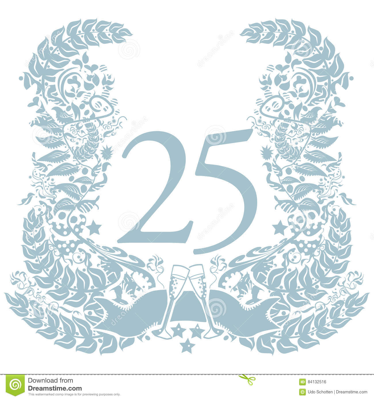 Vignette with 25th anniversary