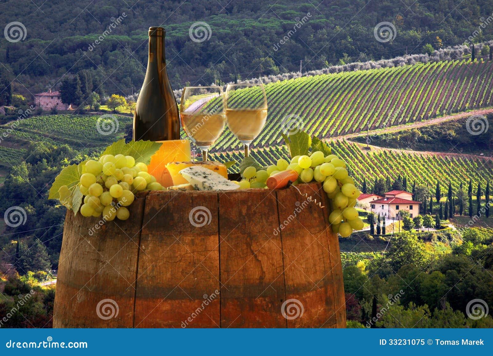 Vignoble dans le chianti, Toscane