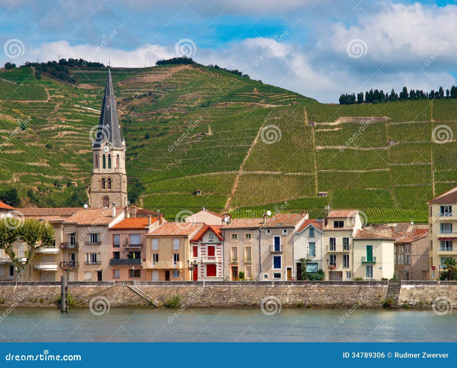 Vignobles dans les Frances de Cote du le Rhône