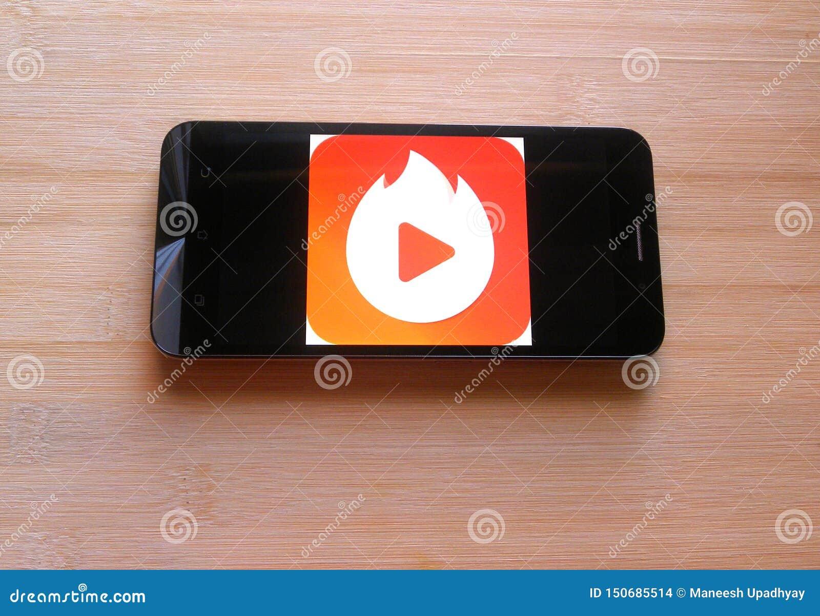 Vigo Video app editorial stock image  Image of black - 150685514