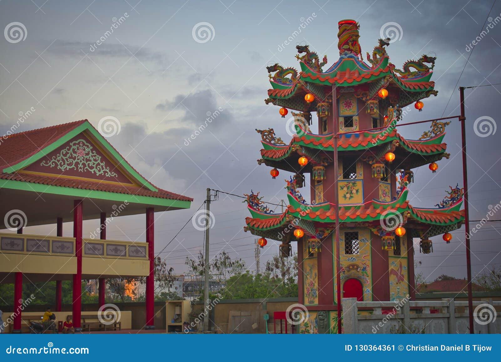 Vihara Satya Dharma is a modern Chinese temple at Benoa Port, Bali. It is a temple of `Satya Dharma` or `Shenism`, Southeast Asian