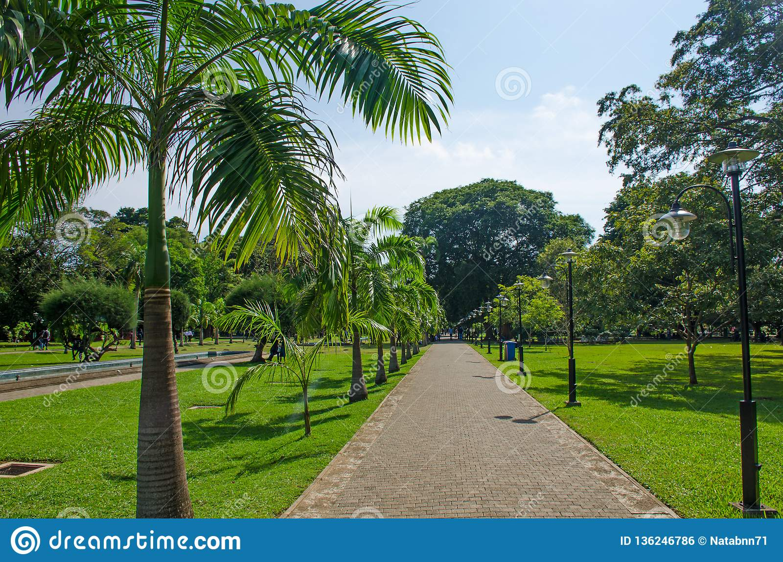Viharamahadevi το πάρκο στην πόλη Colombo της Σρι Λάνκα