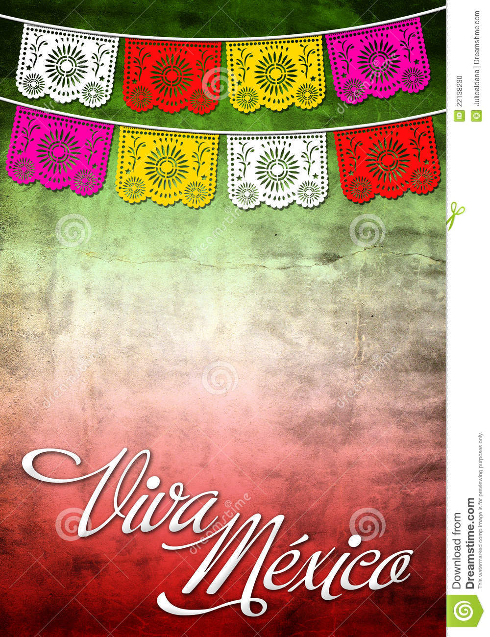 Viiva Mexico Poster Card Template Stock Photo Image