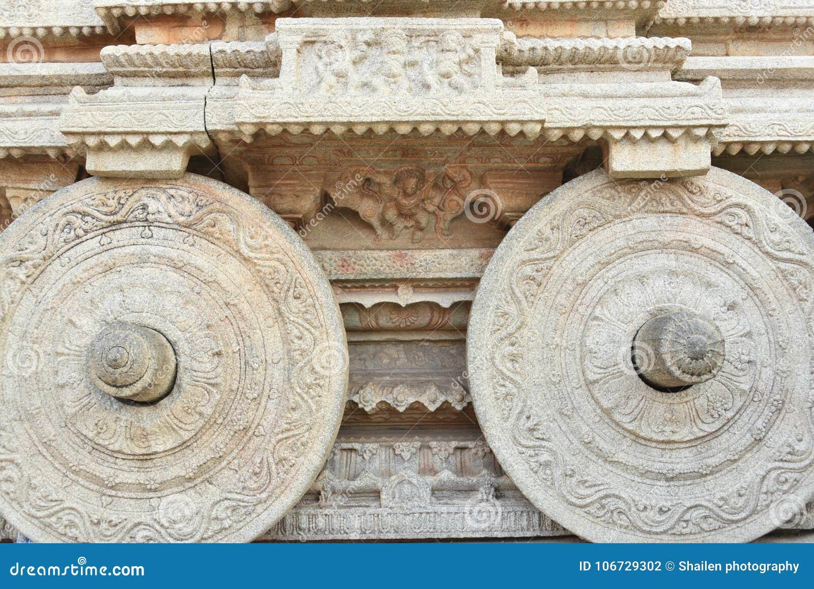 Vijay Vittala temple chariot, Hampi, Karnataka, India