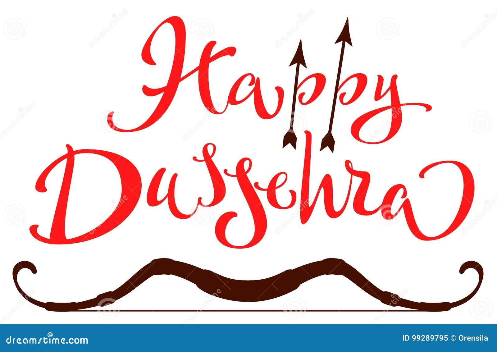 Vijaya dashami dussehra hindu festival happy dussehra lettering vijaya dashami dussehra hindu festival happy dussehra lettering text for greeting card kristyandbryce Images