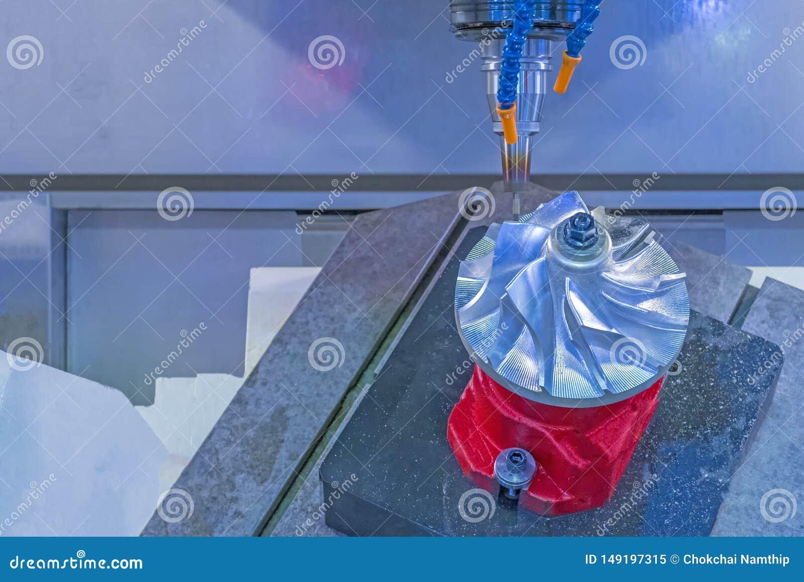 Vijf ascnc het machinaal bewerken turbine van de centrum de scherpe straalmotor