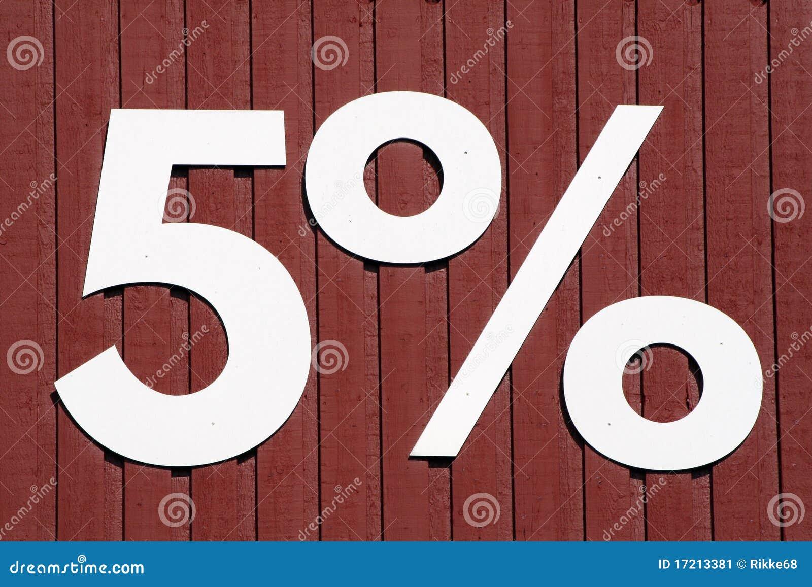 Vijf percenten