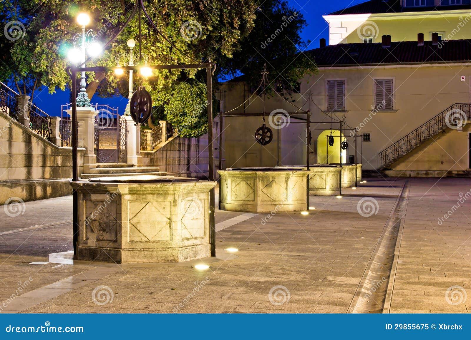 Vijf puttenvierkant in Zadar