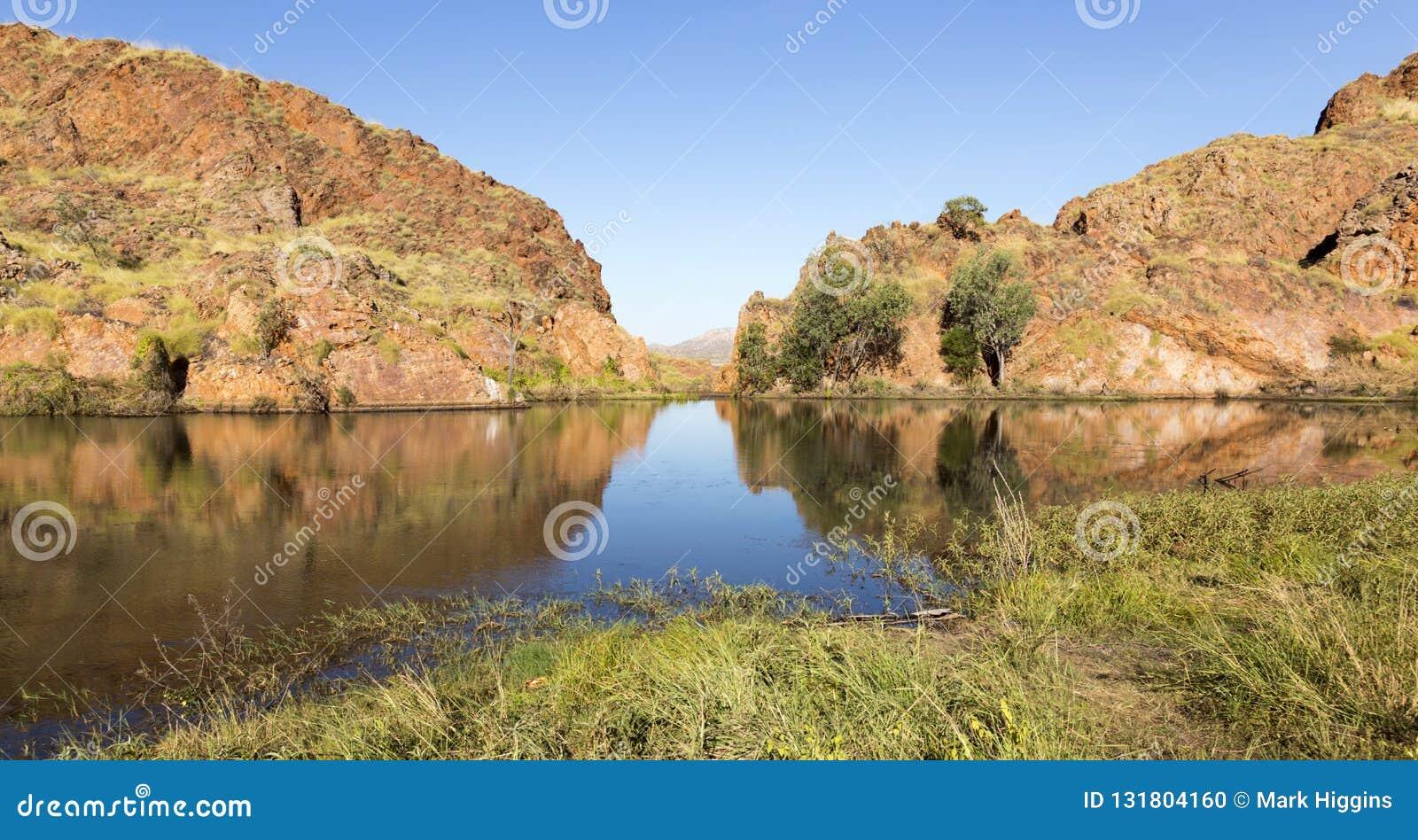 Vijver bij rand van Meer Argyle Western Australia
