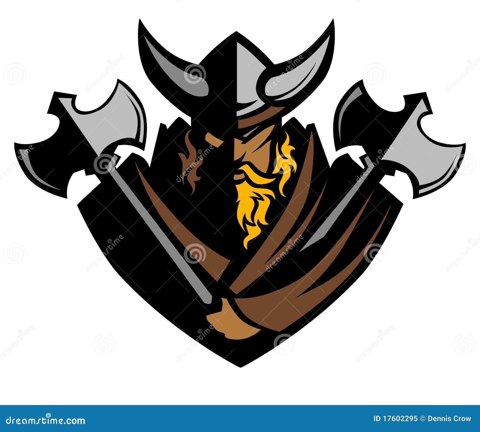 Viking/barbare avec le logo de mascotte de haches