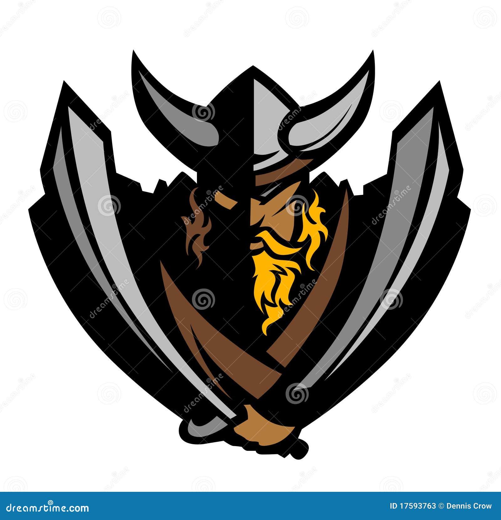 Viking / Barbarian Mascot Vector Logo Stock Photos - Image: 17593763