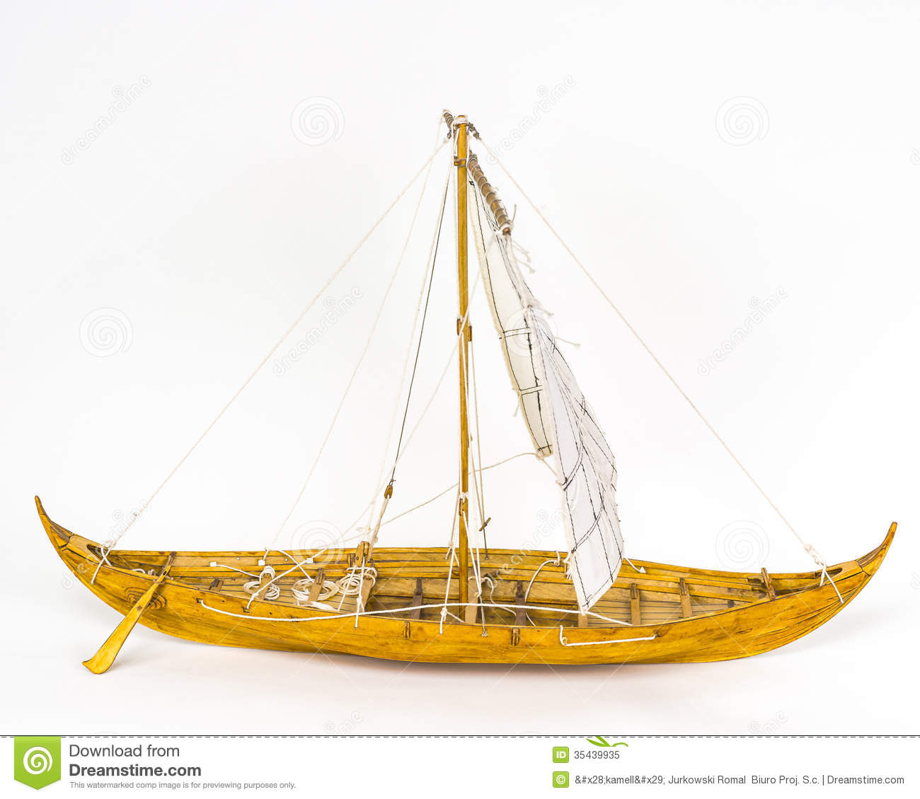 Viking Boat Model Royalty Free Stock Photo - Image: 35439935