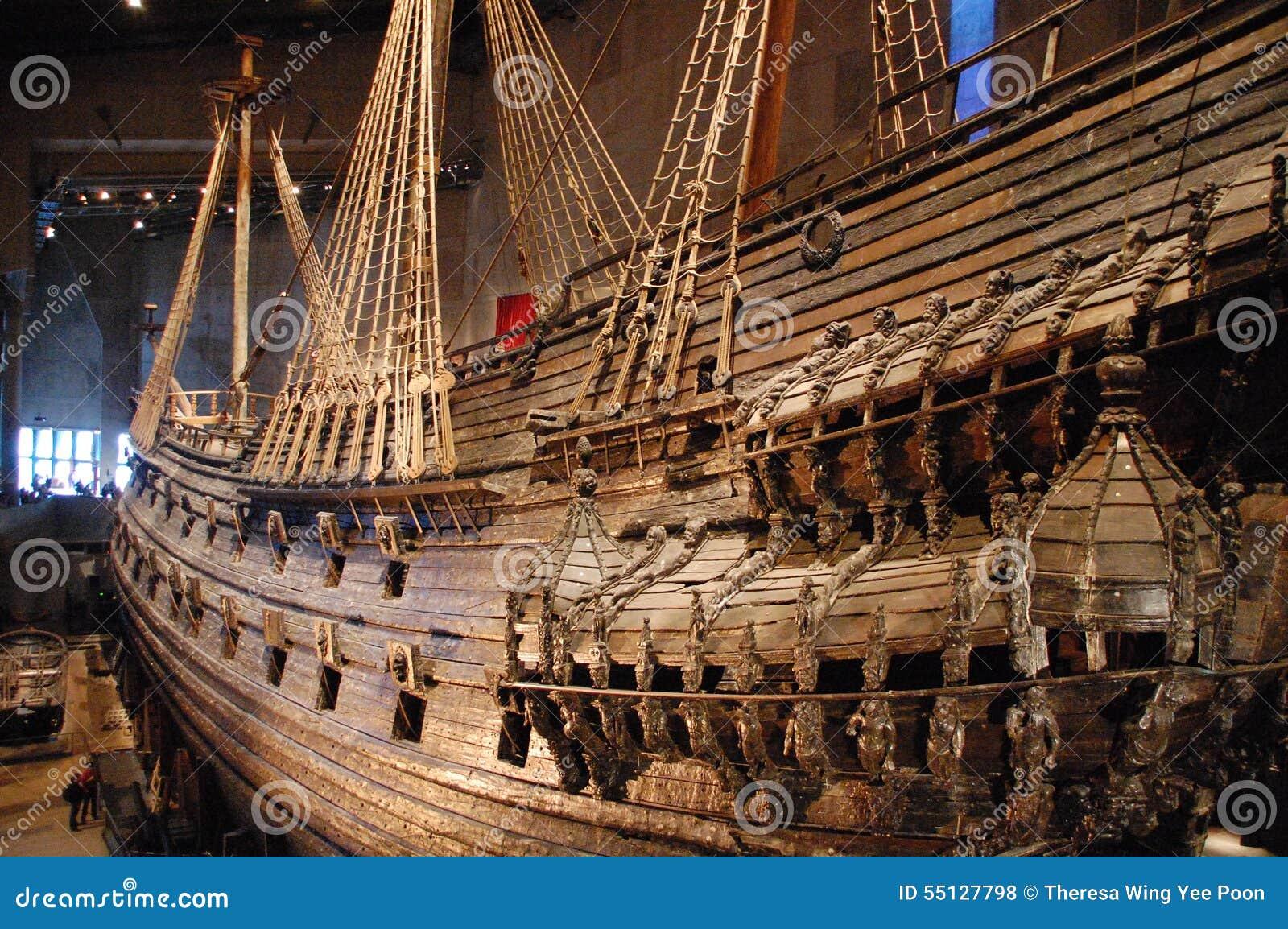 Viking boat in Vasamuseet editorial stock photo. Image of sailing - 55127798