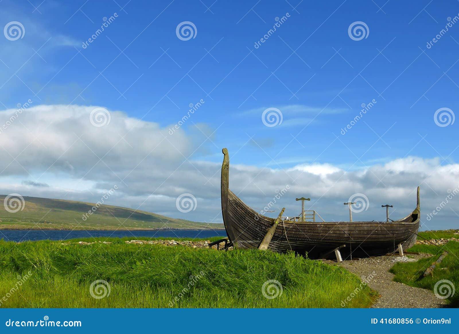 Viking-boot op Unst