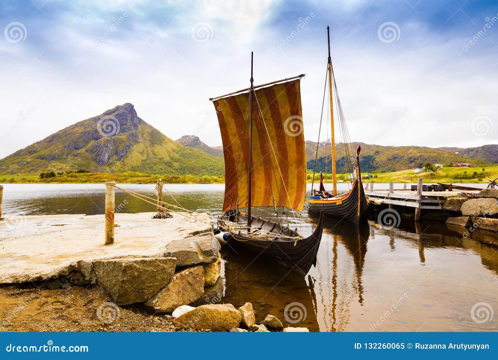 Viking-boten in Noorwegen