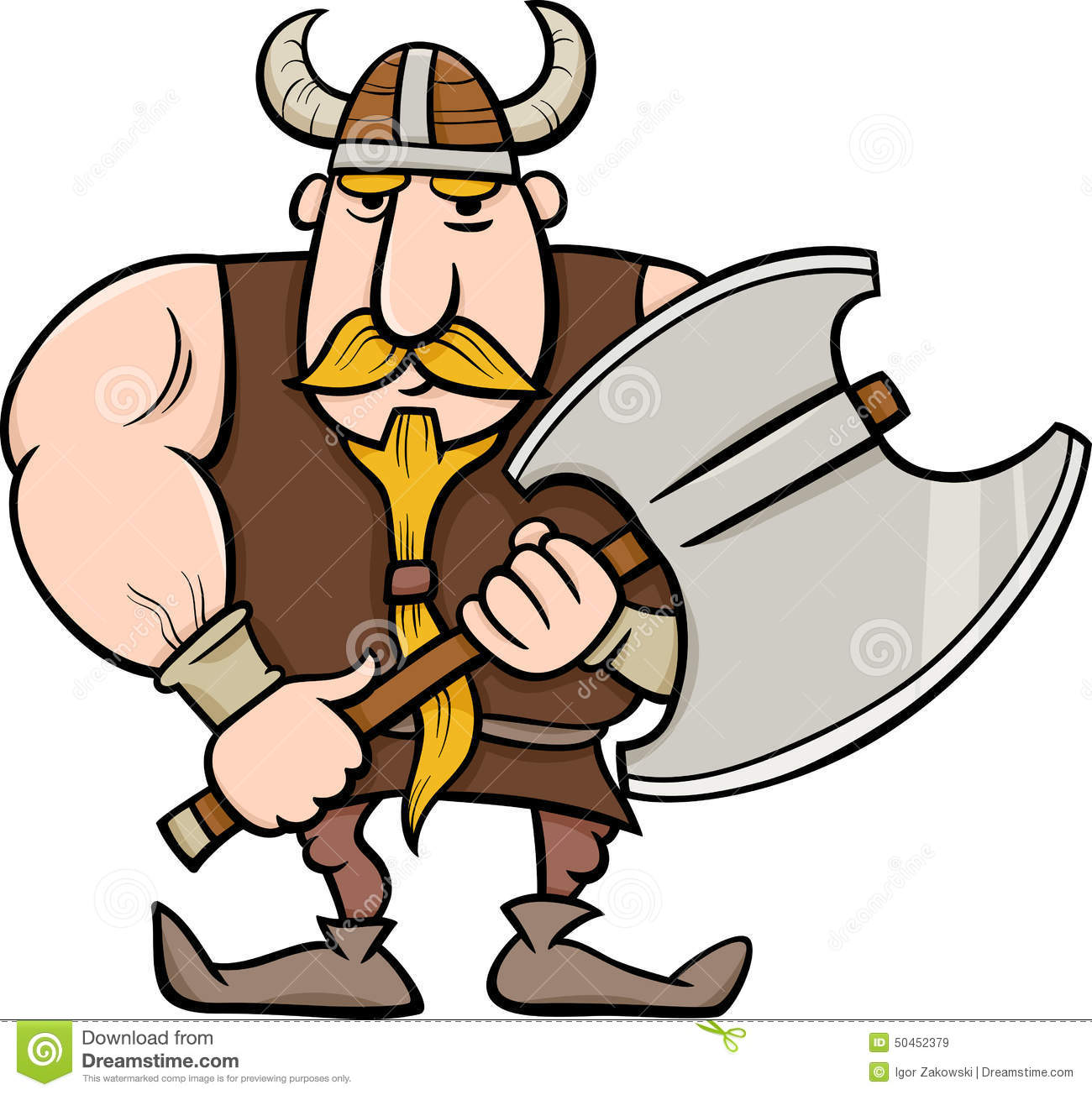 Viking Cartoon Illustration Stock Vector - Image: 50452379