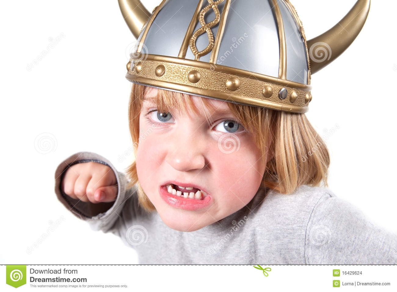 Viking Child Helmet Isolated