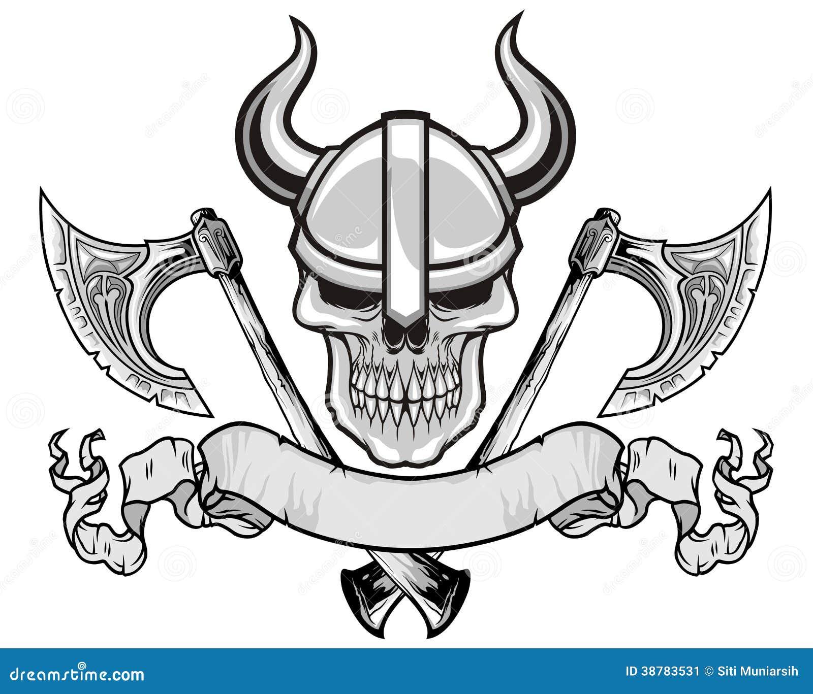 Viking czaszka