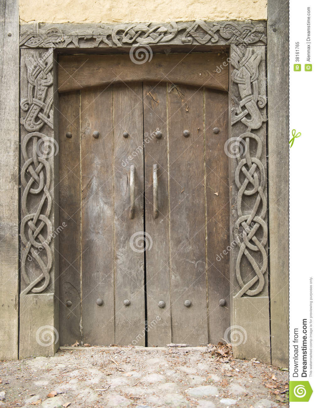 Viking Door Stock Image Image Of Curve Carving Frame