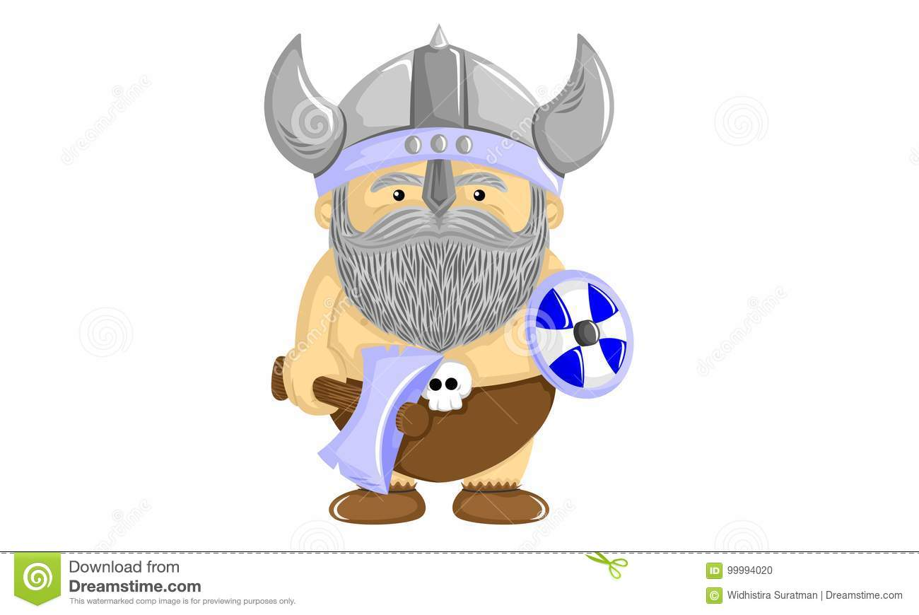 Funny Viking Stock Vector Illustration Of Fighter Brave 99994020