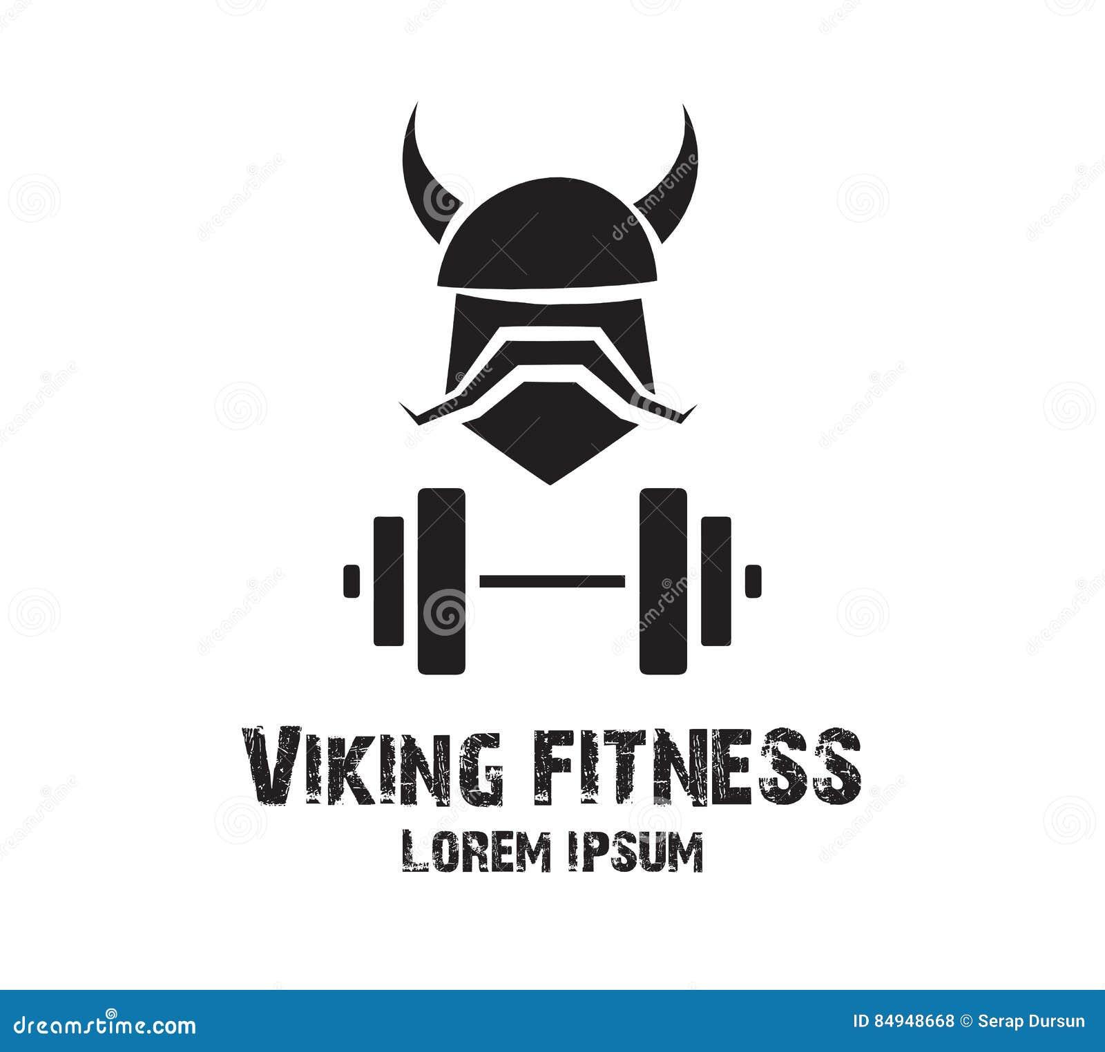 Viking Fitness Logo Design stock vector. Illustration of artwork ... for Fitness Logo Vector Free Download  8lpfiz