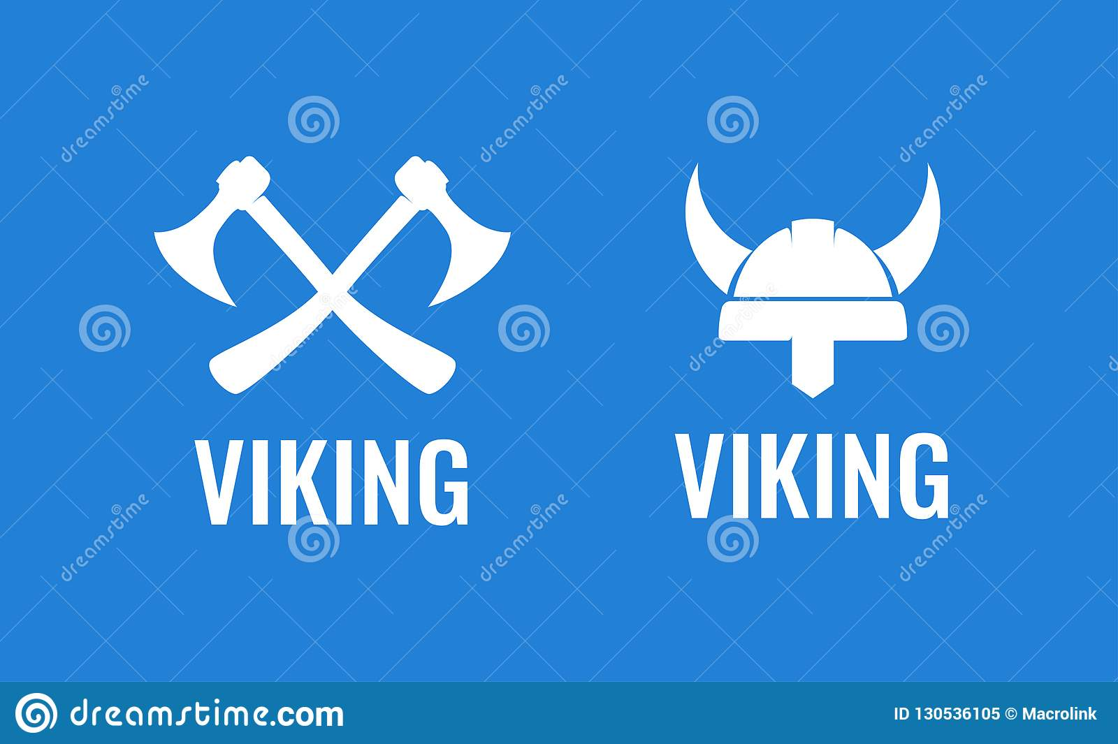 d79d7a9e548c7 Viking flat icon set. Vector Illustration of medieval scandinavian  warriors. Crossed Axes and Helmet