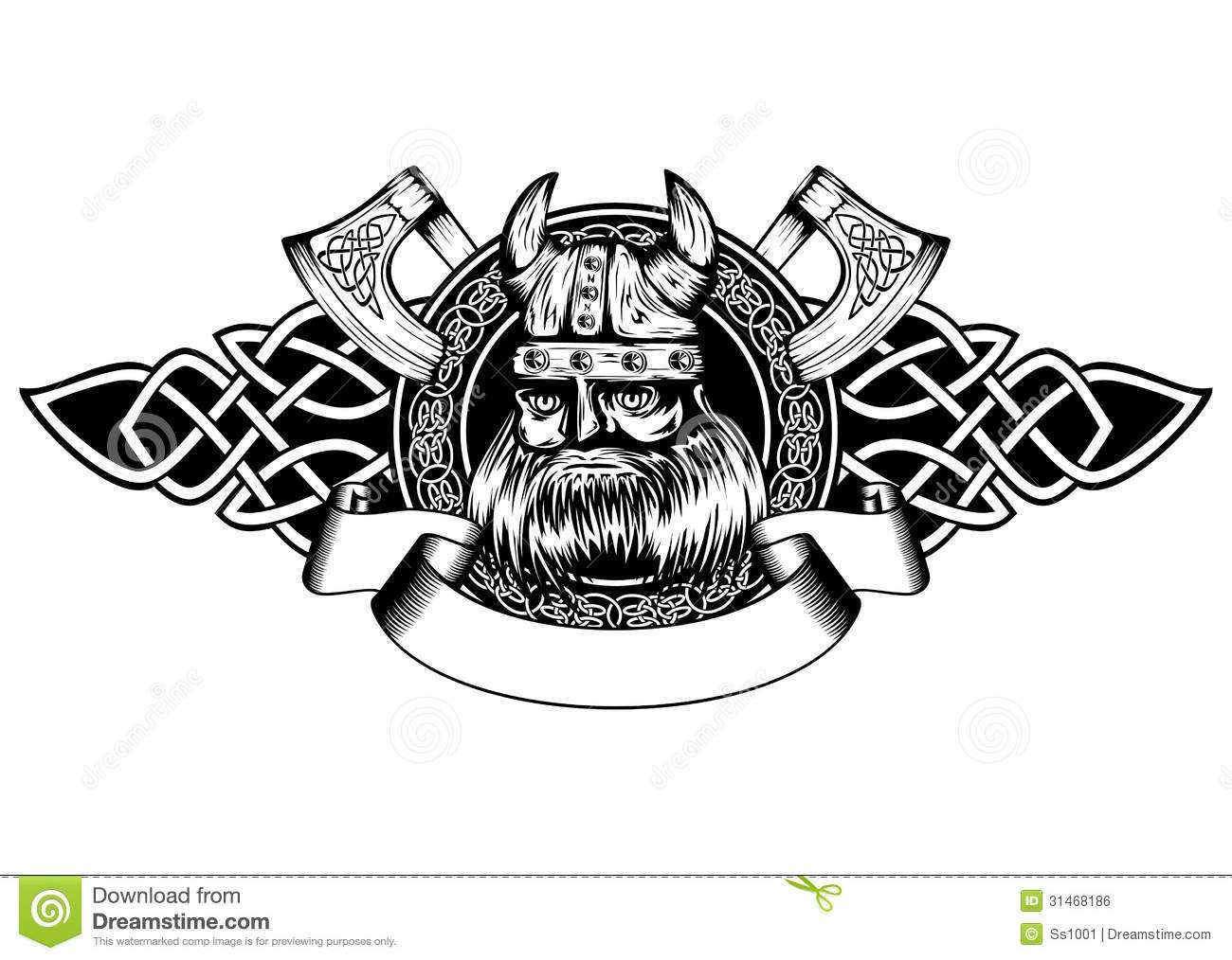 viking in frame stock vector image of medieval emblem. Black Bedroom Furniture Sets. Home Design Ideas