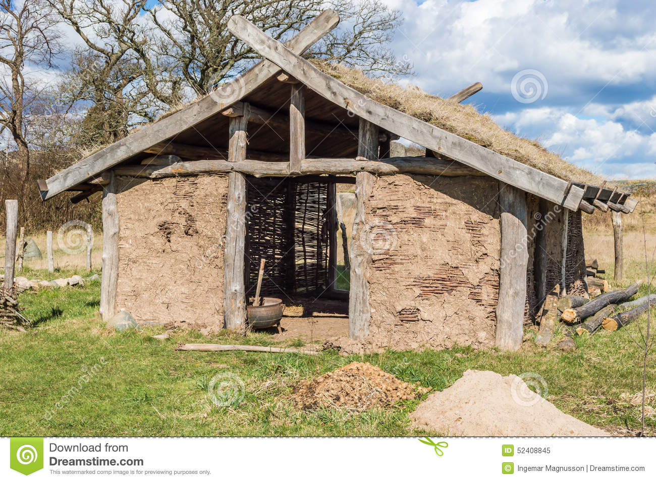 Viking house stock image image of clay spring for Farm house construction