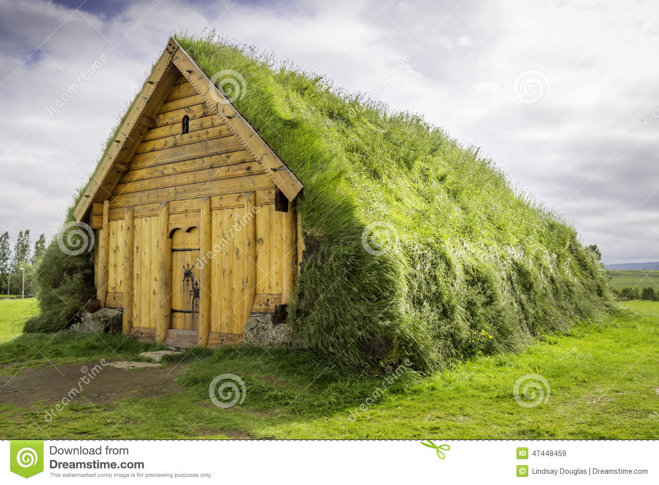 replica of a house Vikings would have lived in in Iceland.