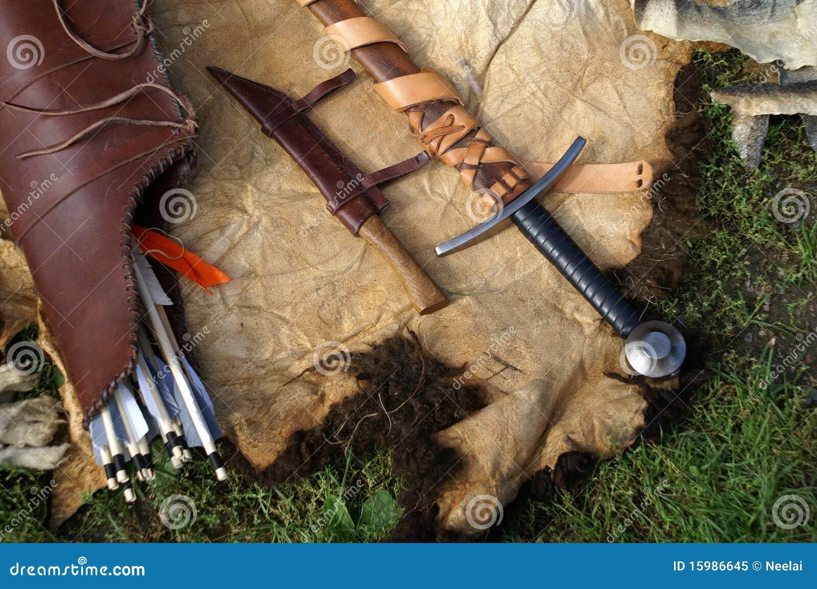 Viking Items Stock Image Image Of Knife Skin Viking 15986645