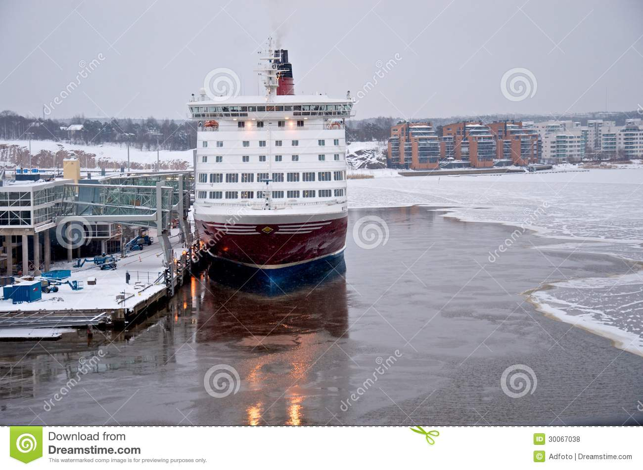 Viking Line - Ship - Port Of Turku Editorial Stock Photo
