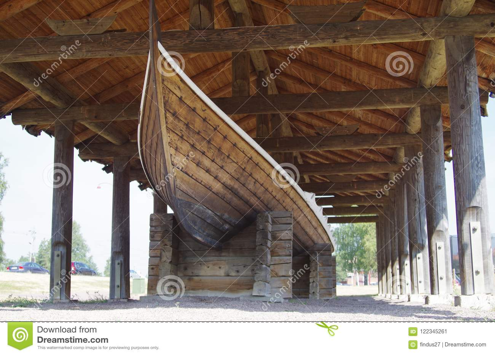 Viking Longboat en Dalarna, Suecia