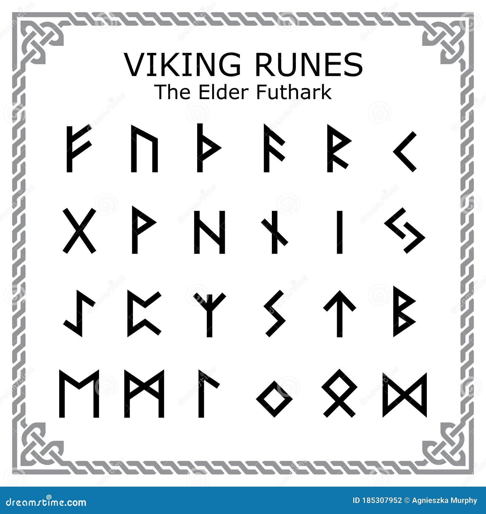 Elder Runes Symbols Stock Illustrations – 20 Elder Runes Symbols ...