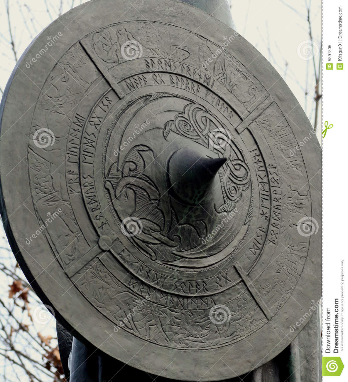 Viking Shield Royalty Free Stock Photo Image 5897805